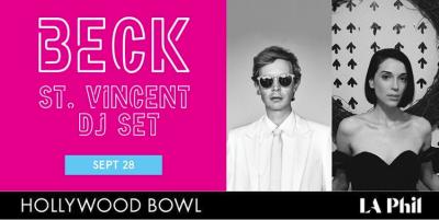 Flyer Beck 2018 Los Angeles Hollywood Bowl Colors St Vincent DJ Set AC LOCO Annie Clark