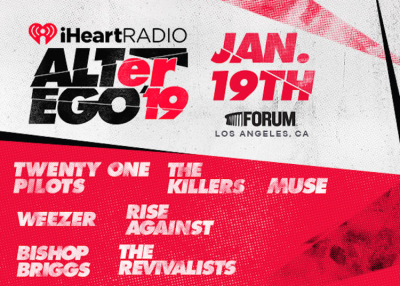 IHeartRadio ALTer Ego 2019 Los Angeles The Forum Inglewood Bishop Briggs The Killers Muse The Revivalists Rise Against Twenty One Pilots Weezer