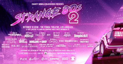 Strange 80s Benefit Show 2018 Los Angeles Fonda Theatre Hollywood The Offspring No Doubt Fall Out Boy Sum 41 Slipknot Eagles of Death Metal Stray Cats Bowling for Soup Slayer OK Go NSYNC Sugarcult The Ataris Queen Kwong