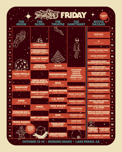 Desert Daze 2018 Friday Set Times