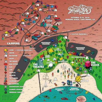 Desert Daze 2018 Festival Map