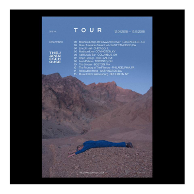 Tour Poster The Japanese House 2018 Los Angeles The Masonic Lodge Hollywood Forever Cemetery Amber Bain Saw You In A Dream