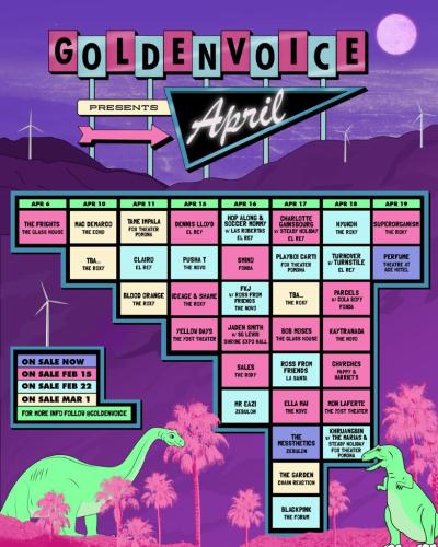 Coachella 2019 Localchella Goldenvoice Presents April Side Shows Poster