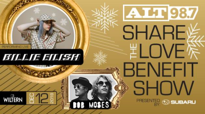ALT 987 2018 Los Angeles Wiltern Koreatown Billie Eilish Bob Moses Share The Love Benefit