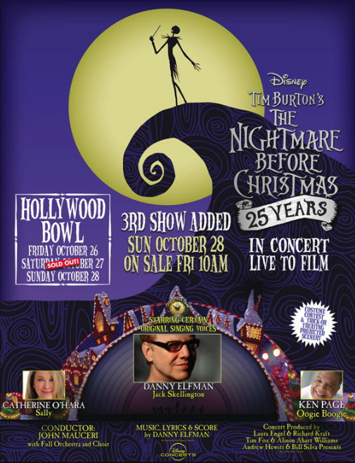 The Nightmare Before Christmas 2018 25th Anniversary Los Angeles Hollywood Bowl Danny Elfman Choir Orchestra