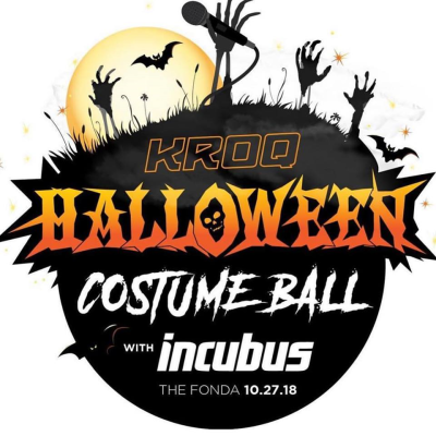 Flyer KROQ Costume Ball 2018 Los Angeles Fonda Theatre Hollywood Incubus Halloween