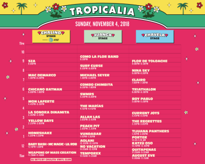 Tropicalia 2018 Set Times Long Beach The Queen Mary Sunday