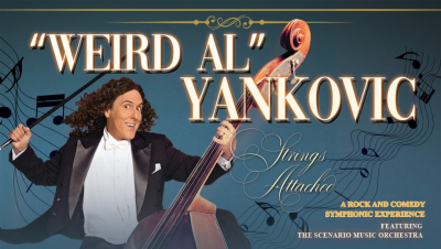 Poster Flyer Weird Al Yankovic 2019 Los Angeles Greek Theatre Los Feliz Strings Attached Tour Orchestra