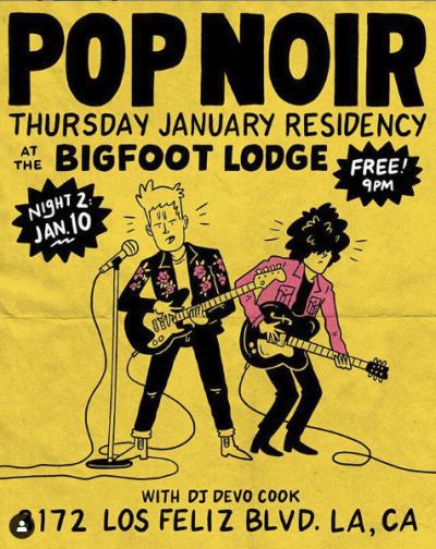 Pop Noir Bigfoot Lodge East Los Angeles Residency Poster