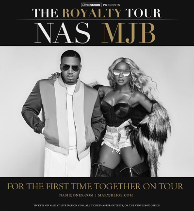 Mary J  Blige and Nas at the Hollywood Bowl (The Scenestar)