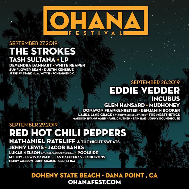Ohana Festival 2019 with The Strokes and the Red Hot Chili Peppers
