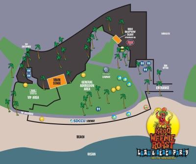 KROQ Weenie Roast Venue Map