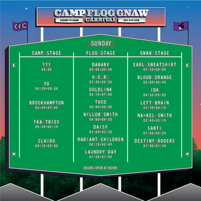 Camp Flow Gnaw 2019 Set Times