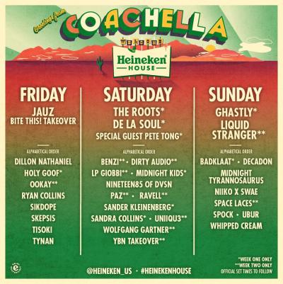 Coachella 2019 Heineken House