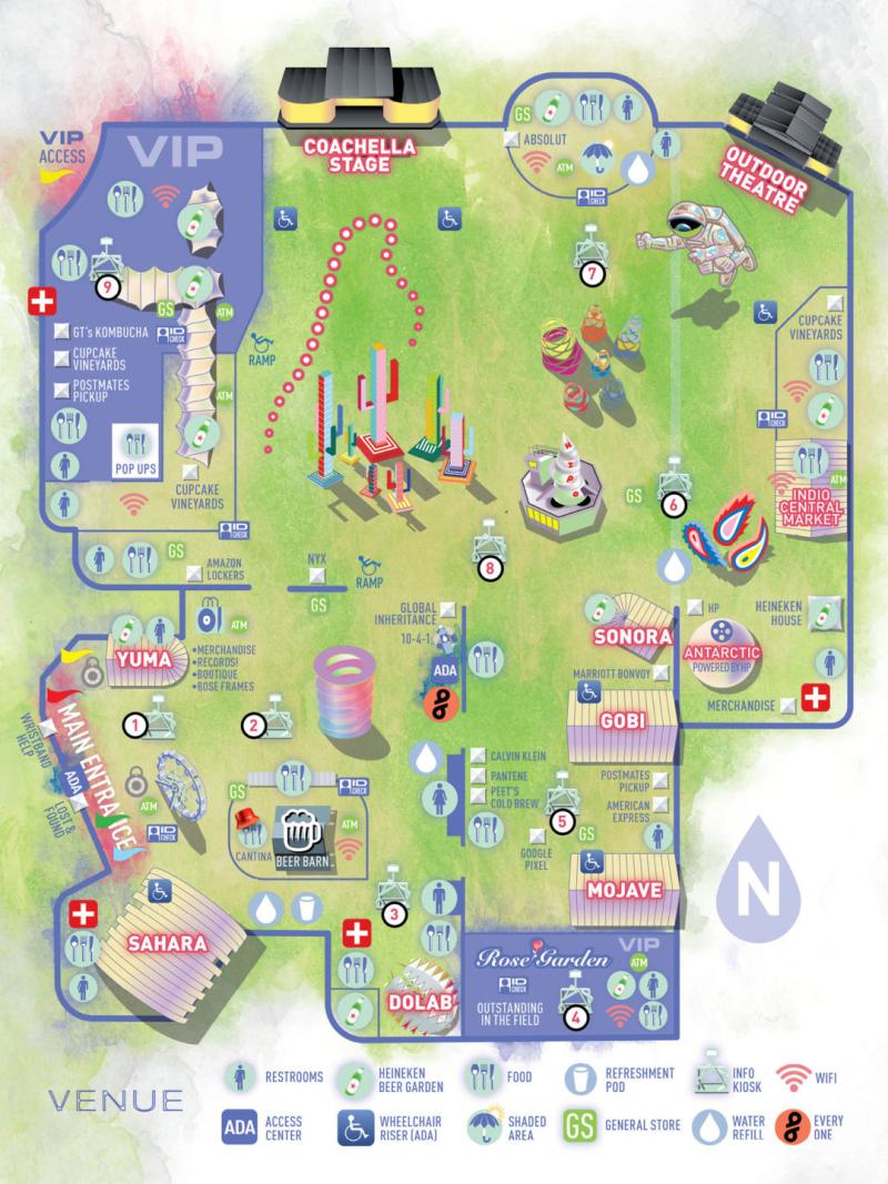 Coachella Venue Map