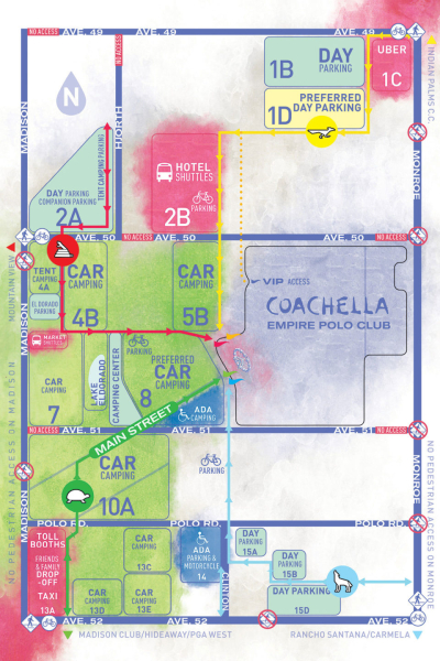 Coachella Parking Map