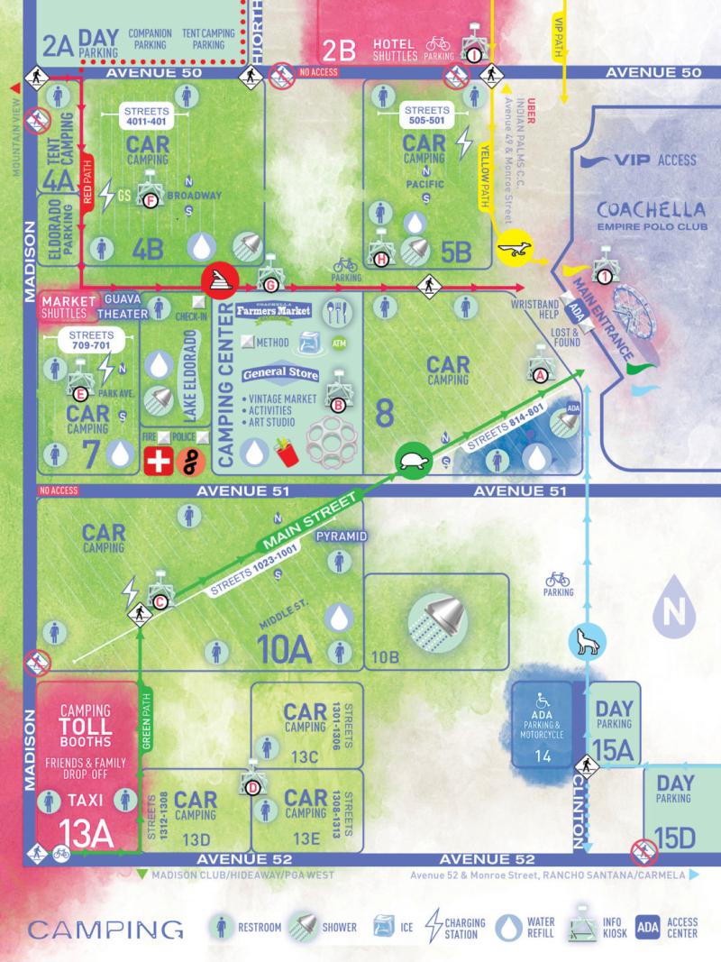 Coachella Camping Map