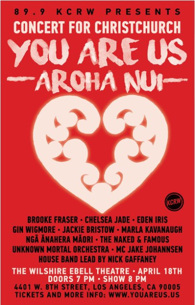 You Are Us Aroha Nui Benefit Show Poster