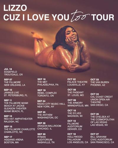 Lizzo Cuz I Love You Too Tour