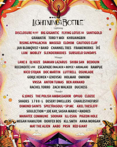 Lightning In A Bottle 2019 Lineup Poster