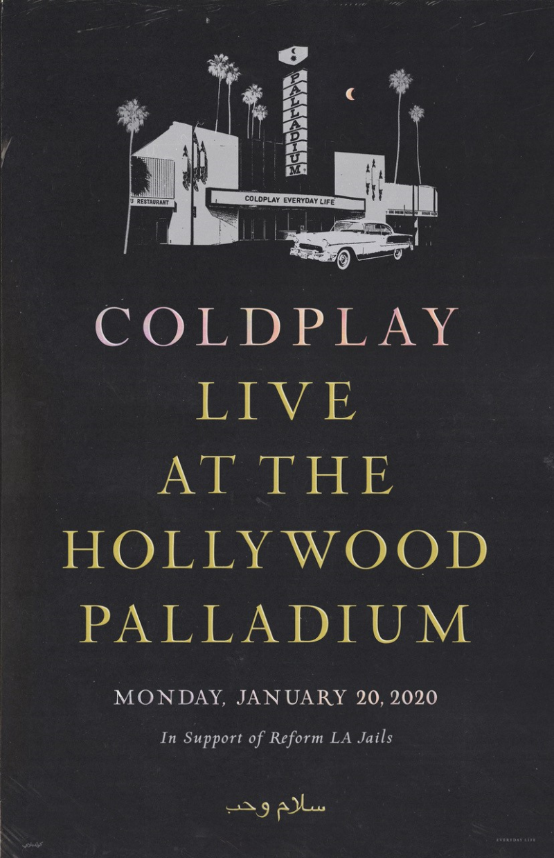 Coldplay Benefit Show