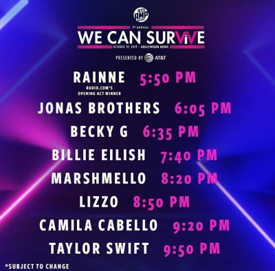 We Can Survive 2019 Set Times