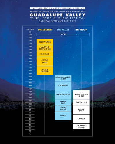 Guadalupe Valley Fest 2019 Set Times