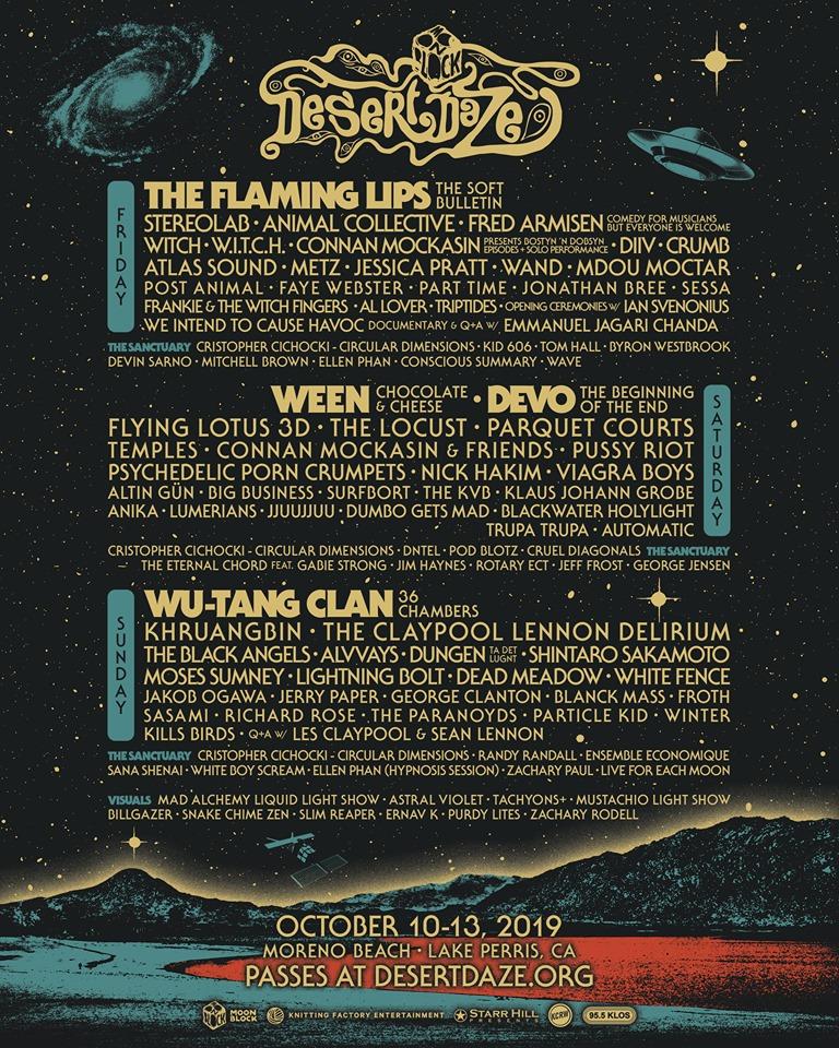 Desert Daze 2019 Festival Lineup