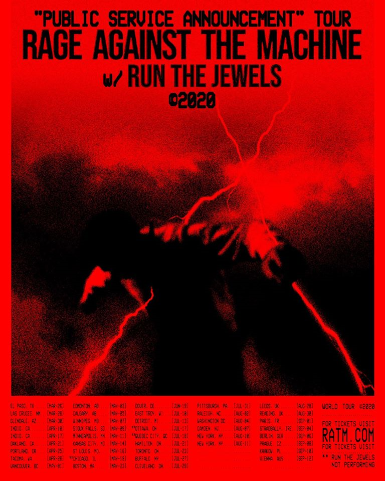 Rage Against The Machine Tour Poster