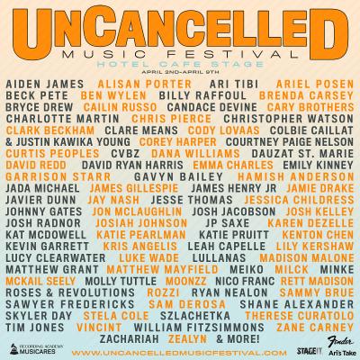UnCancelled Music Festival Lineup 2020