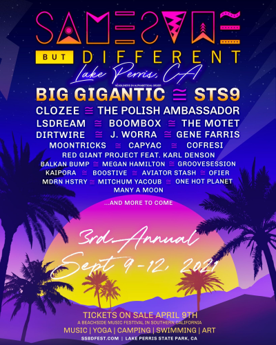 Same Same But Different Festival Lineup 2021