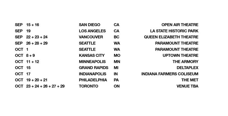 NIN 2020 Tour Dates