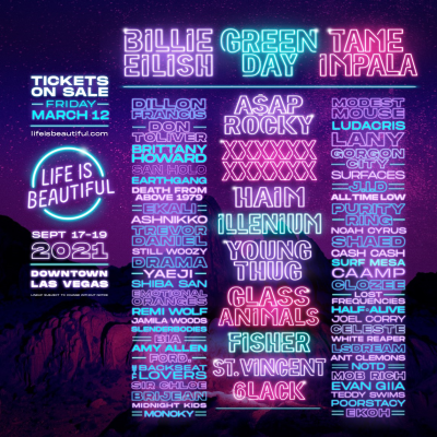 Life Is Beautiful 2021 Festival Lineup