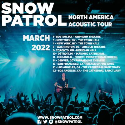 Snow Patrol Tour 2022