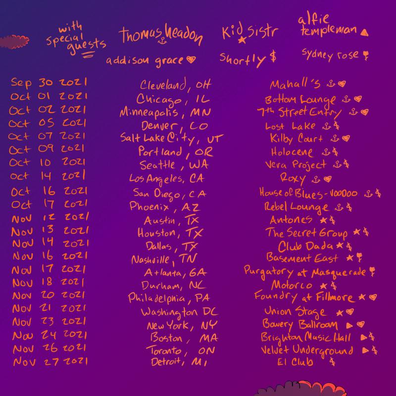 Chloe Moriondo 2021 Tour