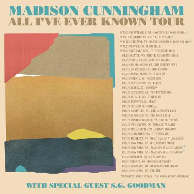 Madison Cunningham 2021 Tour