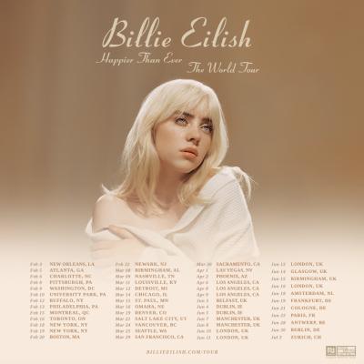 Billie Eilish 2022 World Tour