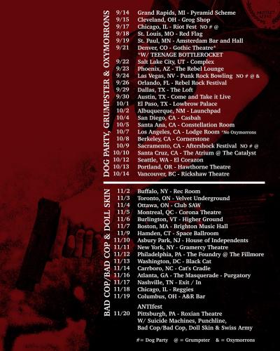 Anti-Flag 2021 Tour
