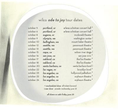 Wilco Ode To Joy Tour 2021
