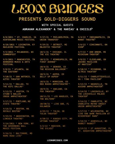 Leon Bridges Gold-Digger Sound North American Tour 2021