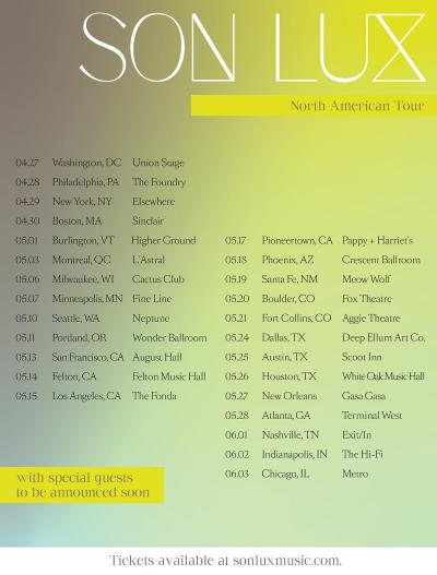 Son Lux 2022 North American Tour