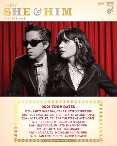 A Very She & Him Christmas 2021 Tour