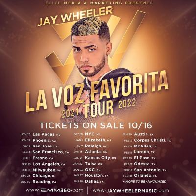 Jay Wheeler La Voz Favorita Tour 2021
