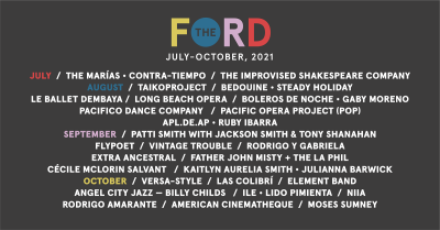 The Ford 2021 Concert Season