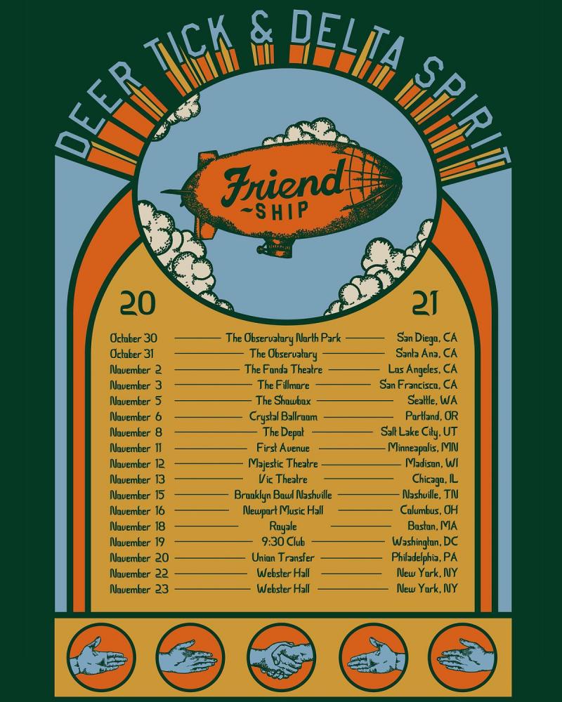 Deer Tick and Delta Spirit 2021 Friend Ship Tour