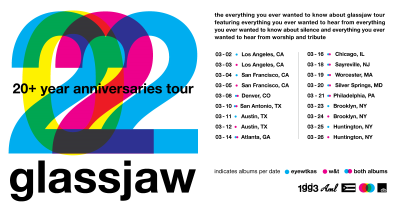Glassjaw 2022 Everything You Ever Wanted To Know About Silence Anniversaries Tour