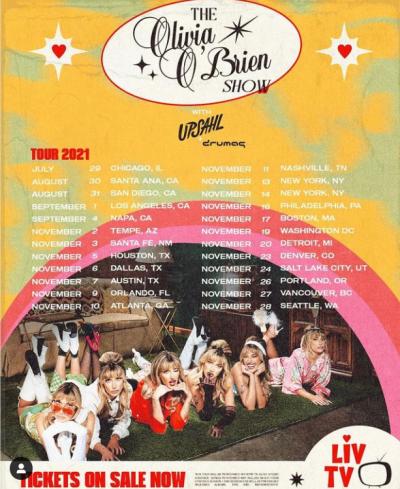 The Olivia O'Brien Show Tour 2021