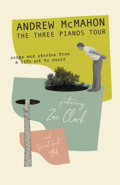 Andrew McMahon The Three Pianos Tour 2021