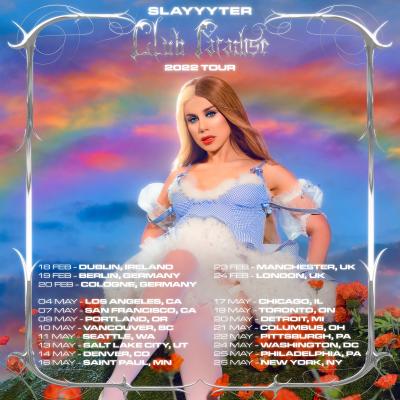 Slayyyter Club Paradise 2022 Tour