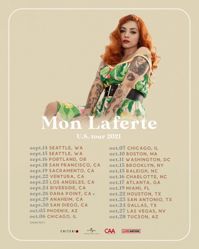 Mon Laferte US Tour 2021